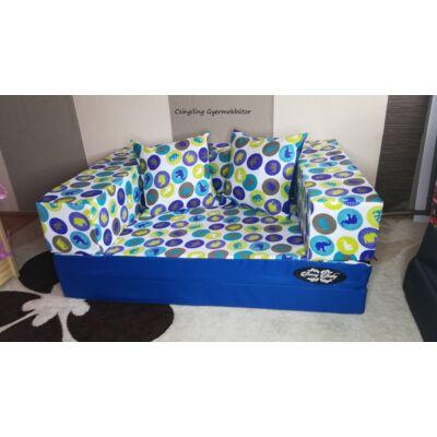Berry Baby WEXTRA szivacs kanapéágy, gyerek méretben: Királykék - kék elefántos