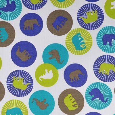 """""""WEXTRA"""" kollekció - RORI kárpitos kanapéágy: Kiwi - kék elefántos"""