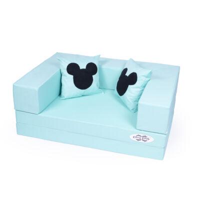 Berry Baby WEXTRA szivacs kanapé, gyerek 2 lapos méretben: Menta + 2db ajándék MICKEY párna KÉSZLETRŐL