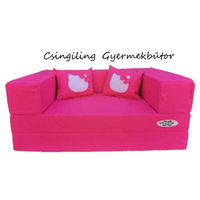 Berry Baby WEXTRA szivacs kanapéágy, felnőtt méretben: Pink (Hello Kitty fantázia díszpárnákkal is kérhető)