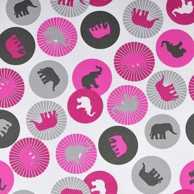 Rori Wextra ágyneműtartós kárpitos fotelágy: puncs rózsaszín elefántos