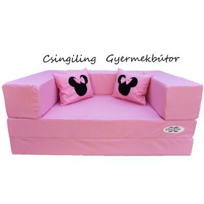 Berry Baby SUNSHINE szivacs kanapéágy, gyerek méretben: Eper (Minnie fantázia díszpárnákkal is kérhető)
