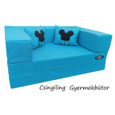 Berry Baby WEXTRA szivacs kanapéágy, felnőtt méretben: Türkizkék  (Mickey fantázia párnákkal is kérhető)