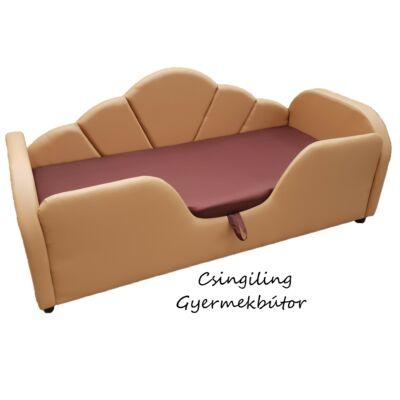 Celebrity prémium gyerekágy 63x150 cm-es fekvőfelülettel: Caramel eco bőr- csoki wextra fekvőfelület