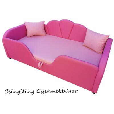 Celebrity prémium eco bőr keretes ágyneműtartós gyerekágy: pink eco bőr wextra puncs rózsaszín 10