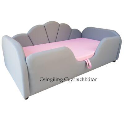 Celebrity prémium eco bőr keretes ágyneműtartós gyerekágy: szürke eco bőr puncs rózsaszín wextra 10