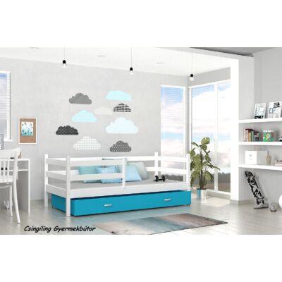 """""""BASIC"""" ágyneműtartós gyerekágyak: Fehér - kék"""
