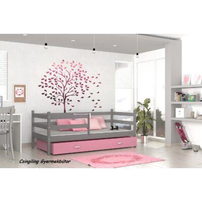 """""""BASIC"""" ágyneműtartós gyerekágyak: Szürke - rózsaszín"""