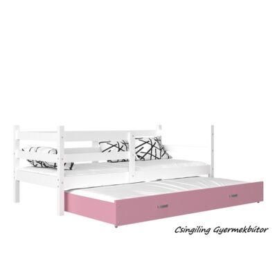 """""""BASIC"""" pótágyas gyerekágy: Fehér - rózsaszín"""