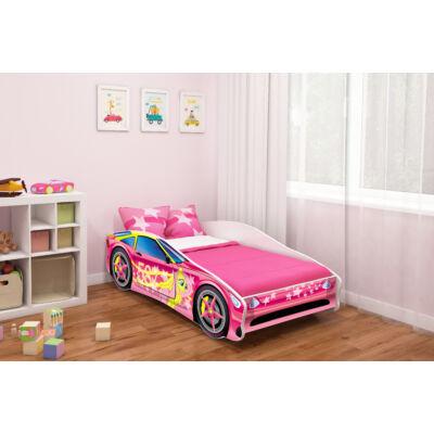 CARS II. autó alakú gyerekágy 8 RÓZSASZÍN - PONY PÓNI