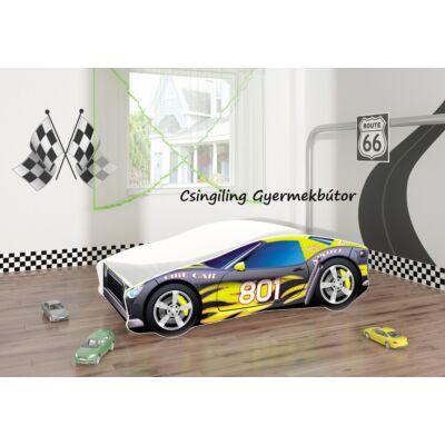 """""""CARS"""" II.  gyerekágyak - 3 méretben: 6-os Fekete-sárga"""