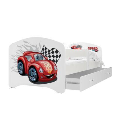 """""""COOL BEDS"""" ágyneműtartós gyerekágy - 4 méretben: 01L Piros versenyautós"""