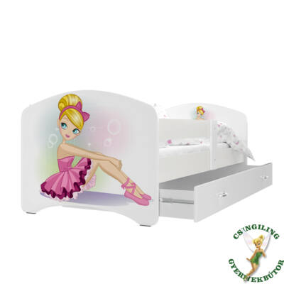 COOL BEDS ágyneműtartós gyerekágy - 4 méretben: 03L Balerinás