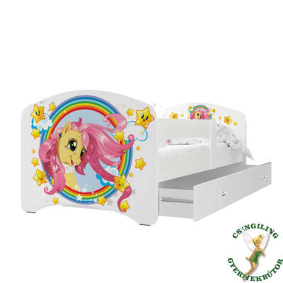 """""""COOL BEDS"""" ágyneműtartós gyerekágy - 4 méretben: 08L Pony"""