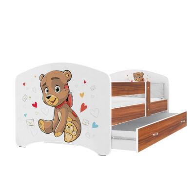 """""""COOL BEDS"""" ágyneműtartós gyerekágy - 3 méretben: 13L Barna macis"""
