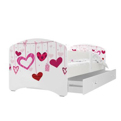 """""""COOL BEDS"""" ágyneműtartós gyerekágy - 4 méretben: 19L Szívecskés"""