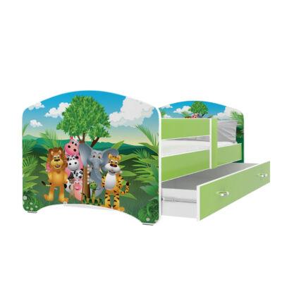COOL BEDS ágyneműtartós gyerekágy - 4 méretben: 34L Jungle DZSUNGEL