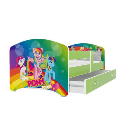 """""""COOL BEDS"""" ágyneműtartós gyerekágy - 3 méretben: 41L Szivárvány Pony"""
