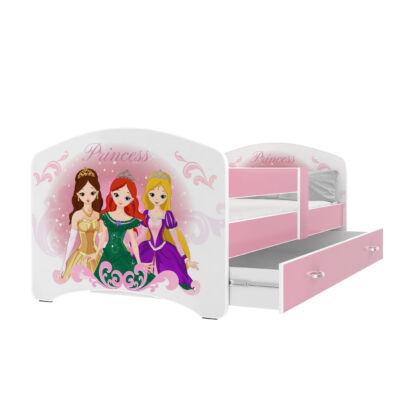 """""""COOL BEDS"""" ágyneműtartós gyerekágy - 4 méretben: 45L Hercegnős"""