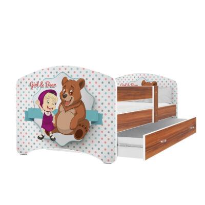 """""""COOL BEDS"""" ágyneműtartós gyerekágy - 3 méretben: 46-os Girl and Bear"""