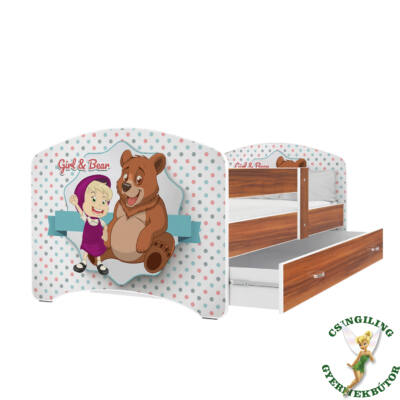 """""""COOL BEDS"""" ágyneműtartós gyerekágy - 4 méretben: 46-os Girl and Bear"""