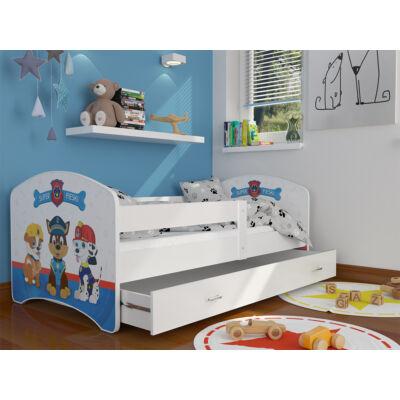 COOL BEDS ágyneműtartós gyerekágy - 4 méretben: 47 Super Pieski MANCS ŐRJÁRAT JELLEGŰ