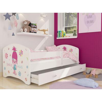 COOL BEDS ágyneműtartós gyerekágy - 4 méretben: 48 Smile Hug MOSOLYOGJ