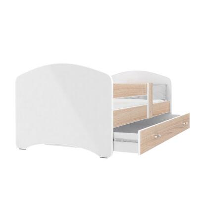 COOL BEDS ágyneműtartós gyerekágy - 4 méretben: Fehér támlás - 7 keretszínnel kérhető