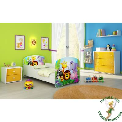 """""""DREAM"""" leesésgátlós gyerekágy - 3 méretben: 01 Zoo"""