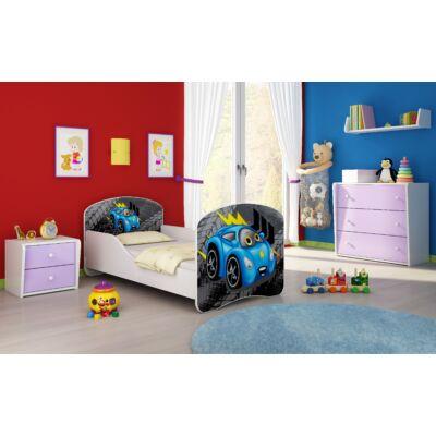 DREAM leesésgátlós gyerekágy - 3 méretben: 04 Blue car KÉK AUTÓ