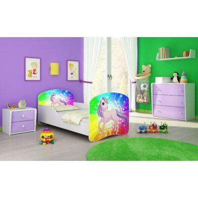 DREAM leesésgátlós gyerekágy - 3 méretben: 18 Pony on rainbow PÓNI SZIVÁRVÁNY