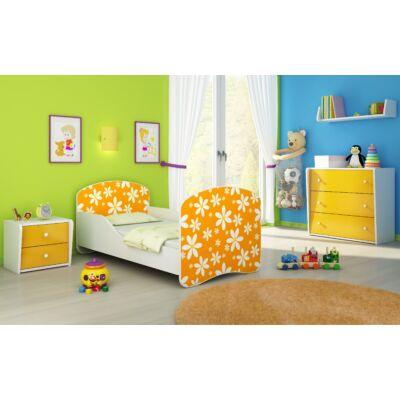 DREAM leesésgátlós gyerekágy - 3 méretben: 24 Orange daisy NARANCS VIRÁGOS