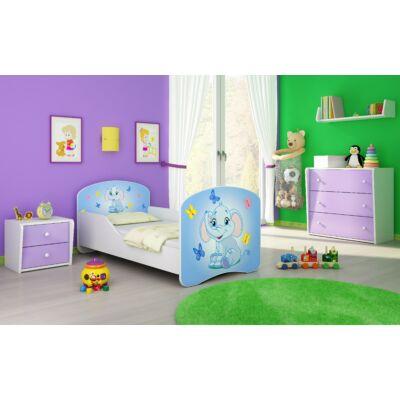 DREAM leesésgátlós gyerekágy - 3 méretben: 26 Blue elephant KÉK ELEFÁNT