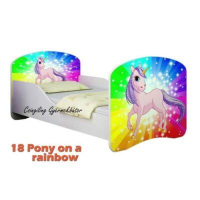 """""""DREAM"""" leesésgátlós gyerekágy - 3 méretben: 18 Pony on rainbow"""
