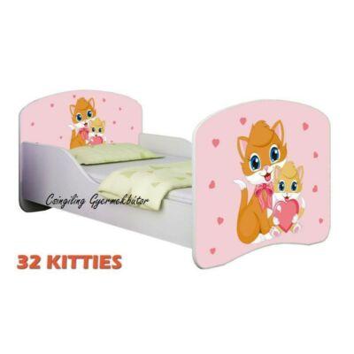 """""""DREAM"""" leesésgátlós gyerekágy - 3 méretben: 32 Kitties"""