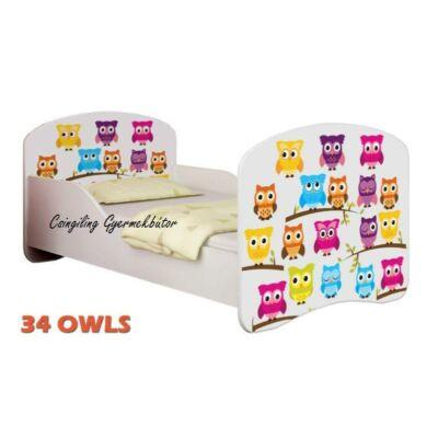 """""""DREAM"""" leesésgátlós gyerekágy - 3 méretben: 34 Owls"""
