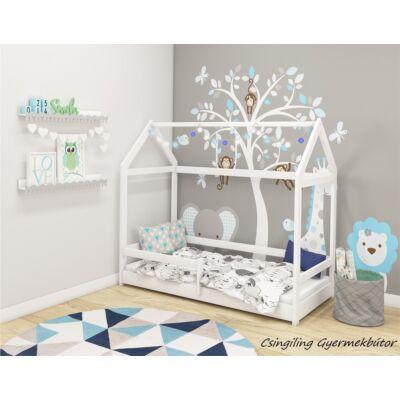 HOUSE házikó formájú gyerekágy, 80x160 cm, FEHÉR, KÉSZLETRŐL