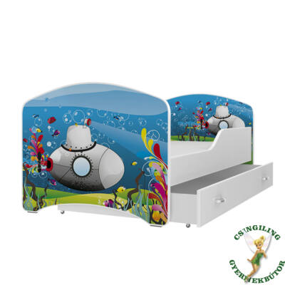 """""""IGOR"""" leesésgátlós gyerekágy ágyneműtartóval - 3 méretben: 02-es"""