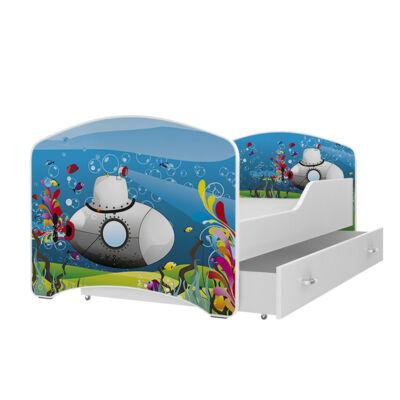 IGOR leesésgátlós gyerekágy ágyneműtartóval - 3 méretben: 02-es TENGERALLATJÁRÓ