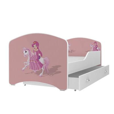 IGOR leesésgátlós gyerekágy ágyneműtartóval - 3 méretben: 09-es HERCEGNŐ PÓNIVAL