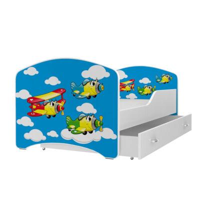 IGOR leesésgátlós gyerekágy ágyneműtartóval - 3 méretben: 19-es REPÜLŐK