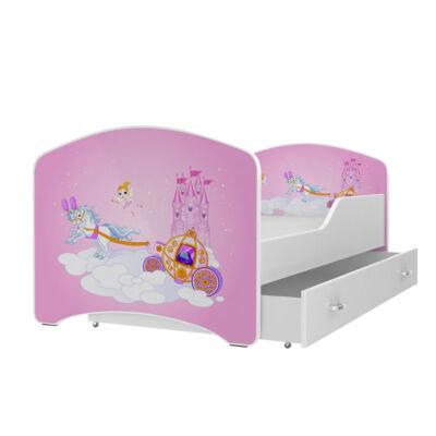 IGOR leesésgátlós gyerekágy ágyneműtartóval - 3 méretben: 26-os PÓNIS HINTÓ
