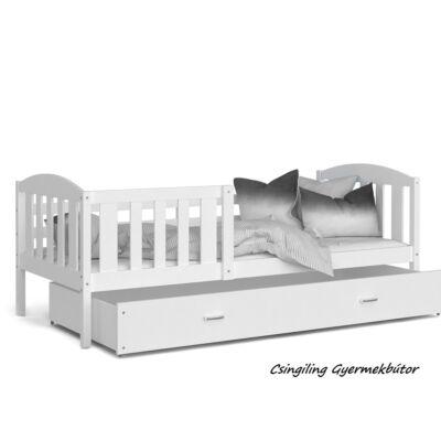 """""""KUBUS"""" ágyneműtartós gyerekágy - 2 méretben: Fehér-Fehér"""