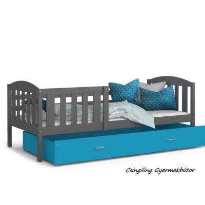 """""""KUBUS"""" ágyneműtartós gyerekágy - 2 méretben: Szürke-Kék"""