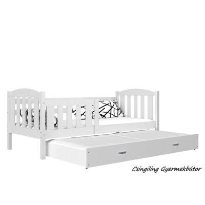 """""""KUBUS"""" pótágyas gyerekágy 80x190 cm-es méretben: Fehér-Fehér"""