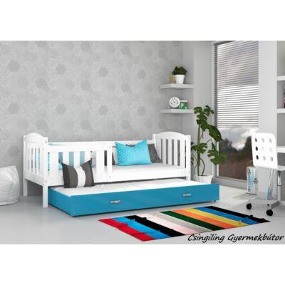 """""""KUBUS"""" pótágyas gyerekágy 80x190 cm-es méretben: Fehér-Kék"""