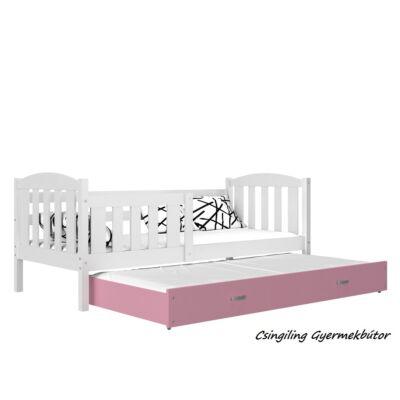 """""""KUBUS"""" pótágyas gyerekágy 80x190 cm-es méretben: Fehér-Rózsaszín"""