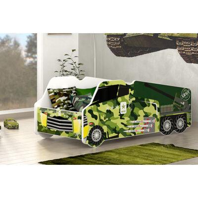 Munkagép alakú gyerekágy 70x140 cm-es méretben: Katonai autó