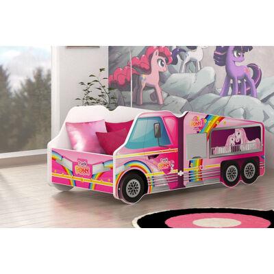 Munkagép alakú gyerekágy 70x140 cm-es méretben: Pony szállító KÉSZLETRŐL