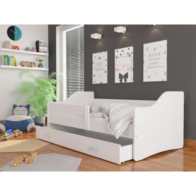 """""""SWEETY"""" leesésgátlós gyerekágy ágyneműtartóval - 80x180-as méretben: Fehér-fehér KÉSZLETRŐL"""